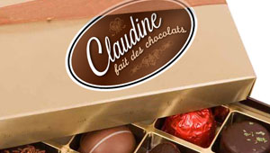 Claudine fait des chocolats